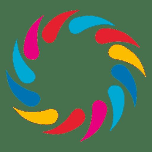 Multicolor swirls circle logo Transparent PNG