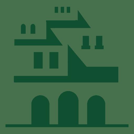 Logotipo de piza edificio nepoli