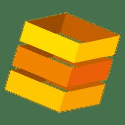Orange 3d Boxen Logo
