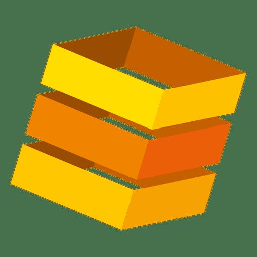 Orange 3d boxes logo Transparent PNG
