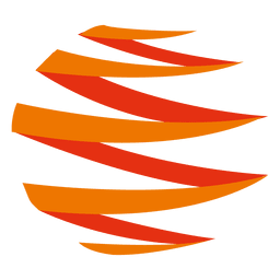 Ícone laranja zig zag