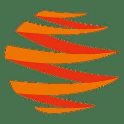 Icono de zig zag naranja