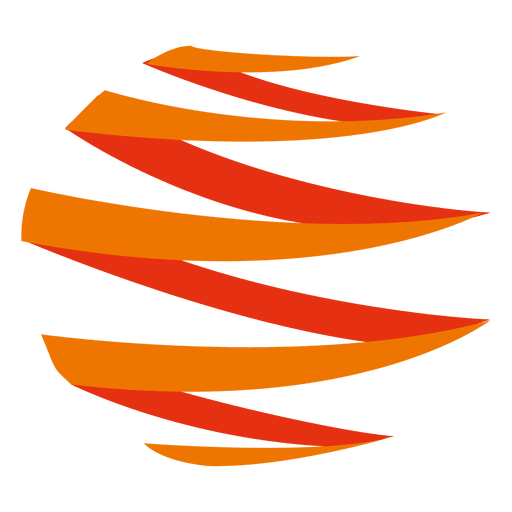 Orange zig zag icon Transparent PNG