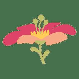 Ilustração da flor rosa
