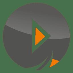 Icono de botón de jugar juegos