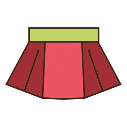 Falda roja ropa