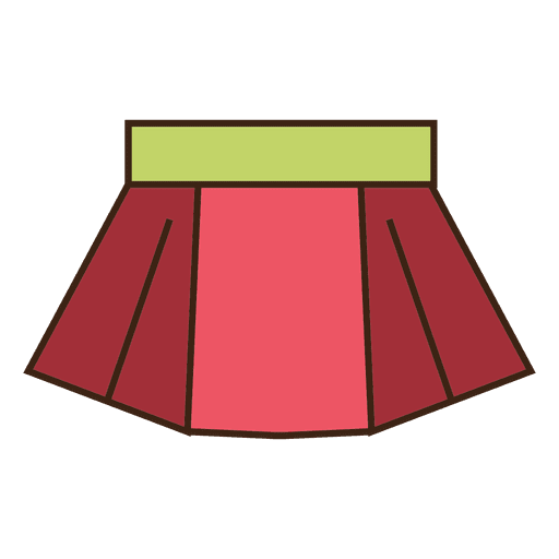 Red skirt clothing Transparent PNG