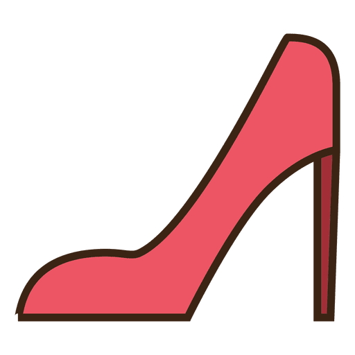 Red stroke shoes Transparent PNG