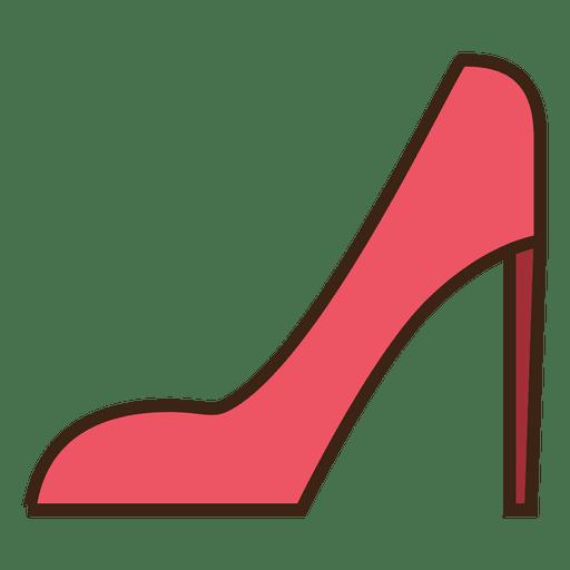 Sapatos de traçado vermelho Transparent PNG