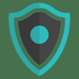 Shield emblem flat banner