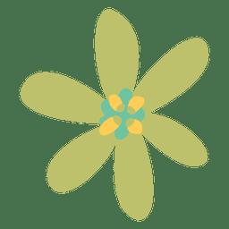 Simple flower doodle illustration