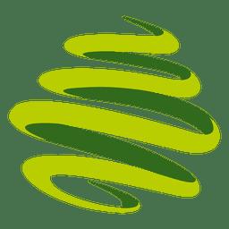 Girando el logo de los remolinos verdes.