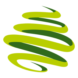Spinning green swirls logo