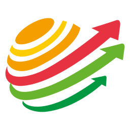 Spinning multicolor arrows logo
