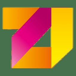 Logo cuadrado de rayas de colores