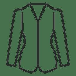 Stroke blazer vestuário ícone