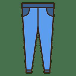 Traje de roupa de brim azul