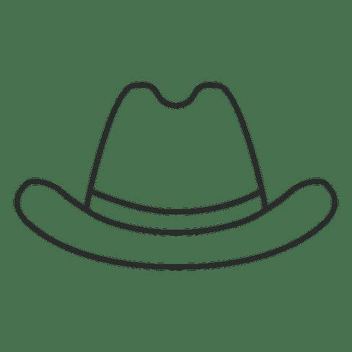 Stroke cowboy hat - Transparent PNG & SVG vector