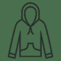 Icono de sudadera con capucha