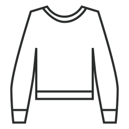 Suéter linear de traçado