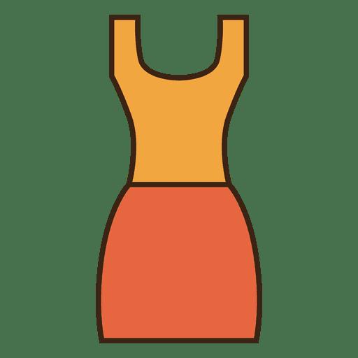 Stroke laranja vestido de roupas Transparent PNG