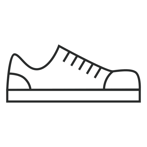 Stroke shoes sneakers Transparent PNG