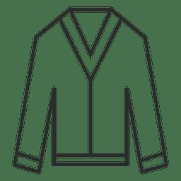 Ícone de roupa de roupa de traço