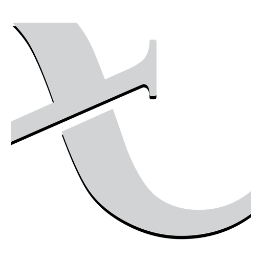T angled alphabet isotype Transparent PNG