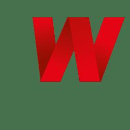 Isotipo de origami de letra W
