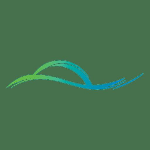 Logotipo de líneas onduladas