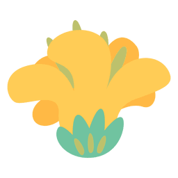 Icono de doodle de flor amarilla