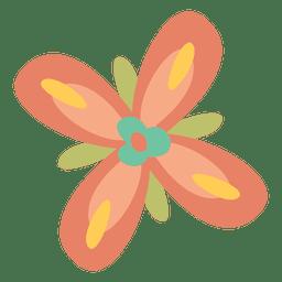 Doodle de flores de colores planos