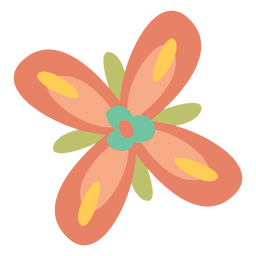 Flat colorful flower doodle