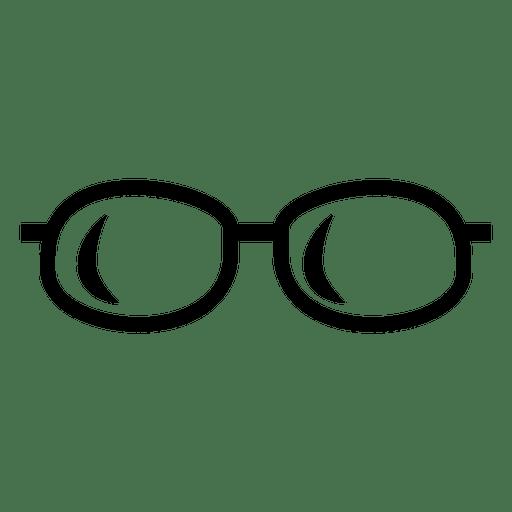 Icono de gafas negras Transparent PNG