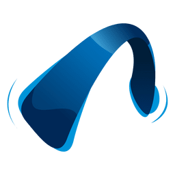 Blue headphone entertainment icon