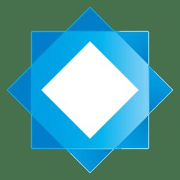 Blaues Stern-Quadrat-Logo