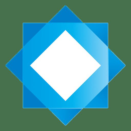 Blue star square logo - Transparent PNG & SVG vector