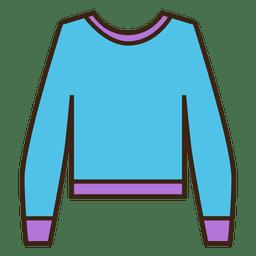 Vestuário de camisola de traço azul