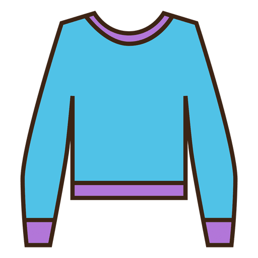 Blue stroke sweater clothing Transparent PNG