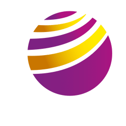 Colorful curves orbit icon