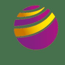 Colorful curves orbit icon