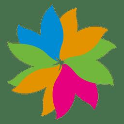 Ícone floral colorido da folha