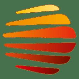 Listras coloridas orbitam ícone