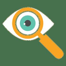Icono de lupa de ojo