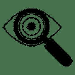Icono de ojo doctor