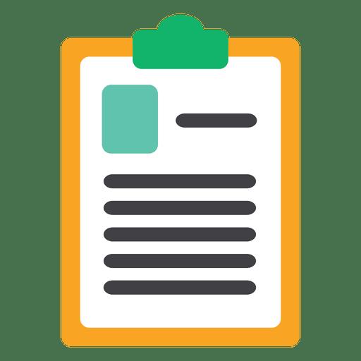 Flat chart document Transparent PNG