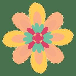 Desenho da ilustração do doodle da flor