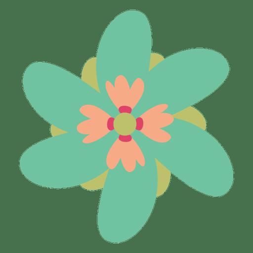 Green flower doodle illustration