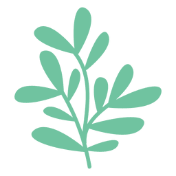 Green leaves doodle illustration