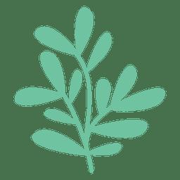 Ilustración de doodle de hojas verdes